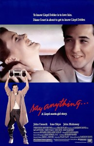 say anything,movie poster