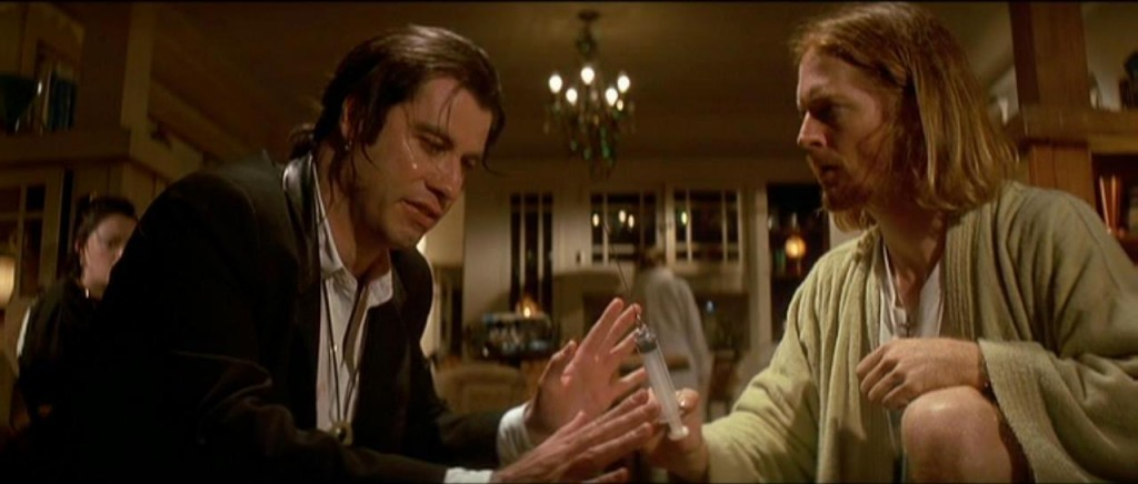 john travolta,eric stoltz,pulp fiction