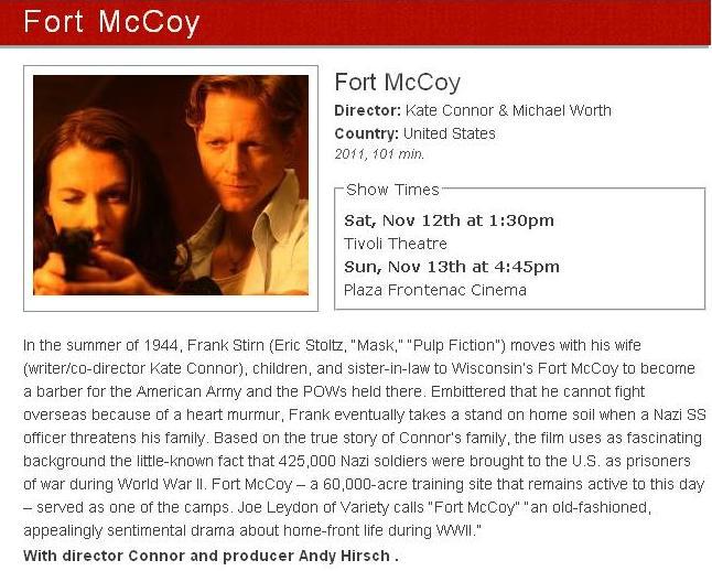 fort mccoy,st louis film festival,eric stoltz
